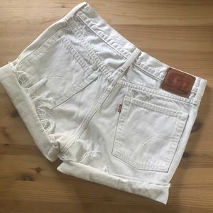Levi's high rise cutoff jean shorts